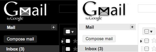 5 nuevos temas para Gmail - blackwhite