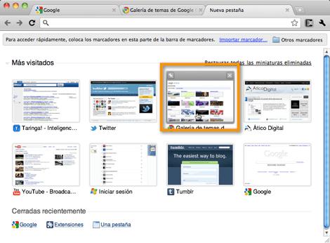 Como cambiar tu tema de Google Chrome - galeria-temas-google-chrome