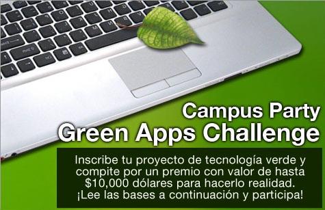 green apps challenge campus party Emprende con tecnologías verdes con Campus Party
