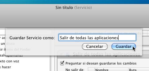 Como cerrar todas tus aplicaciones abiertas en Mac - nombre-servicio-automator