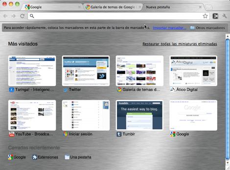Como cambiar tu tema de Google Chrome - tema-instalado-google-chrome