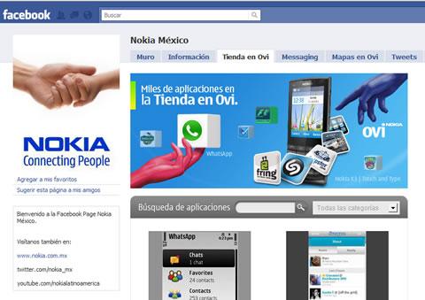 tienda ovi nokia facebook La tienda de OVI de Nokia se integra a Facebook