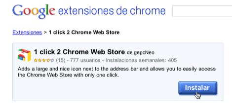 Cómo acceder a la Chrome Webstore con un clic - acceder-chrome-webstore-1