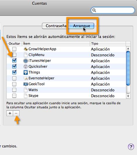 Como configurar programas de arranque en Mac - arranque-mac