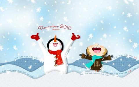 fondos navidad fun snow Fondos Diciembre y Navidad 2010