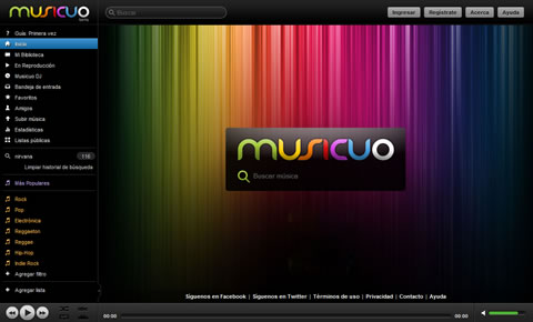 Escuchar musica online en Musicuo - musica-gratis
