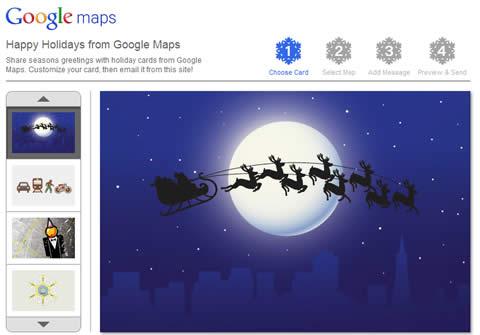 Tarjetas de navidad de Google Maps - tarjetas-navidad-gratis