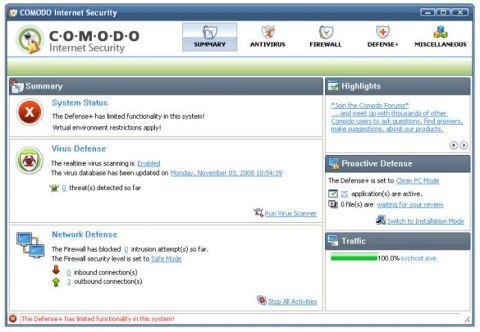 Firewall y Antivirus con Comodo Internet Security - comodo-internet-security-firewall