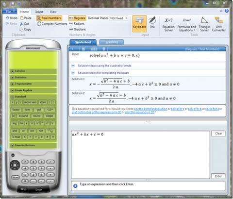 Resolver ecuaciones matemáticas con Microsoft Mathematics 4.0 - ecuaciones-matematicas