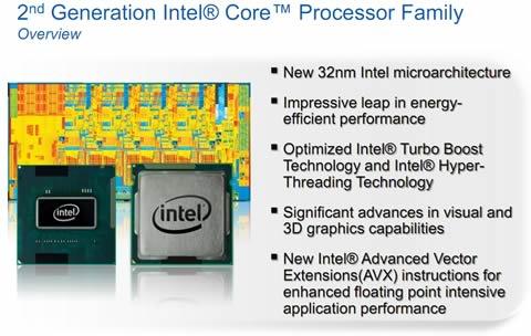 intel core 2da generacion 2da generación de procesadores Intel Core, CES 2011