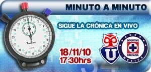 la u cruz azul en vivo cronica La U de Chile vs Cruz Azul en vivo, Amistoso Internacional