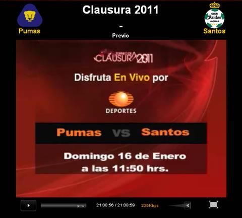 Pumas vs Santos en vivo, Clausura 2011 - pumas-santos-en-vivo-clausura-2011
