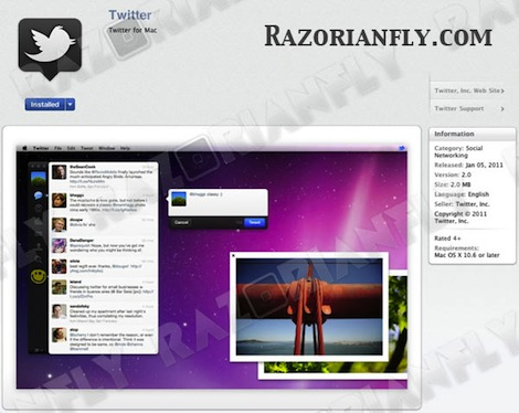 Twitter for Mac aparecerá mañana en la Mac App Store