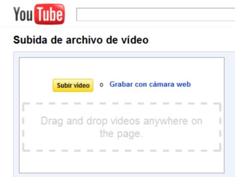 Youtube permite subir videos con solo arrastrar y soltar - youtube-html-subir-videos