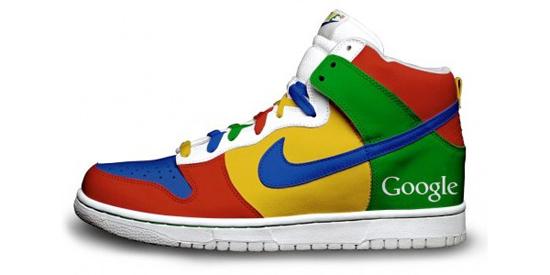 Nike google Zapatos deportivos Nike versión Google y Twitter