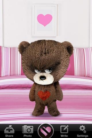 Amargo San Valentin con Bitter Valentine's Teddy para iPhone - bitter-valentines-teddy-iphone