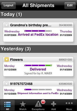 fedex iphone FedEx Express lanza su aplicación para iPhone y Blackberry