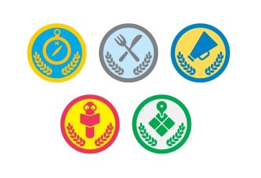 Nuevas badges universitarias de Foursquare - foursquare-badges-universidades