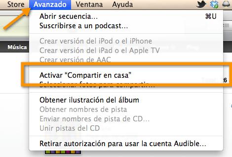Captura de pantalla 2011 03 14 a las 21.11.42 Como activar Compartir en Casa en iTunes