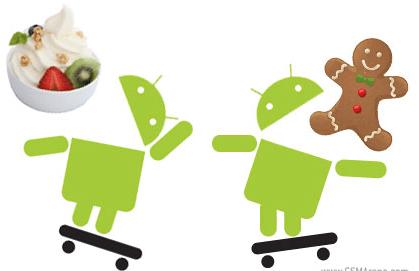 Diferencias entre la versión de Android 2.3 y Android 2.2 - android-froyo-vs-gingerbread