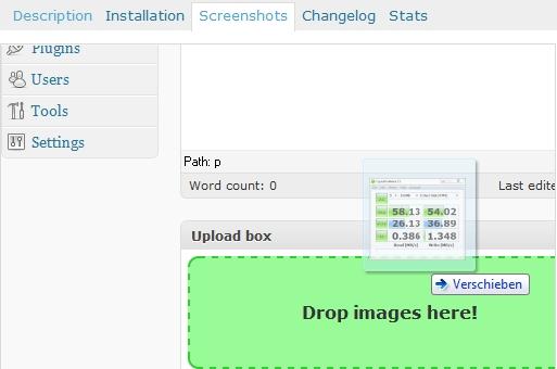 Sube imágenes a Wordpress arrastrando y soltando gracias a un Plugin - ext