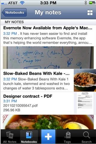Evernote para iPhone se actualiza y estrena nuevo look - iphone-notes