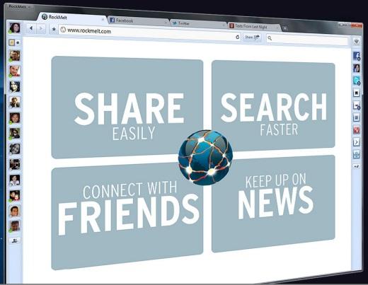 El navegador social Rockmelt ahora tiene su beta pública - rockmelt