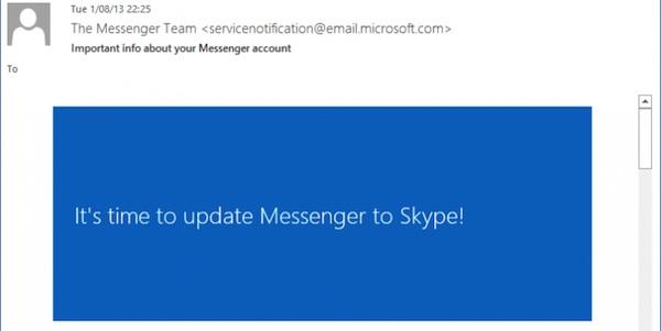 Messenger migra Skype