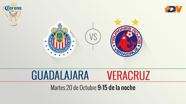 Chivas vs Veracruz, Cuarto de final de la Copa MX Apertura 2015 - chivas-vs-veracruz-en-vivo-copa-mx-apertura-2015