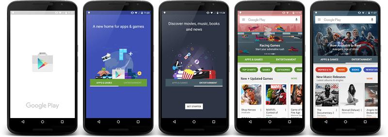 Google renovará su tienda de apps Android con Play Store 6.0 - google-play-new-design-800x282
