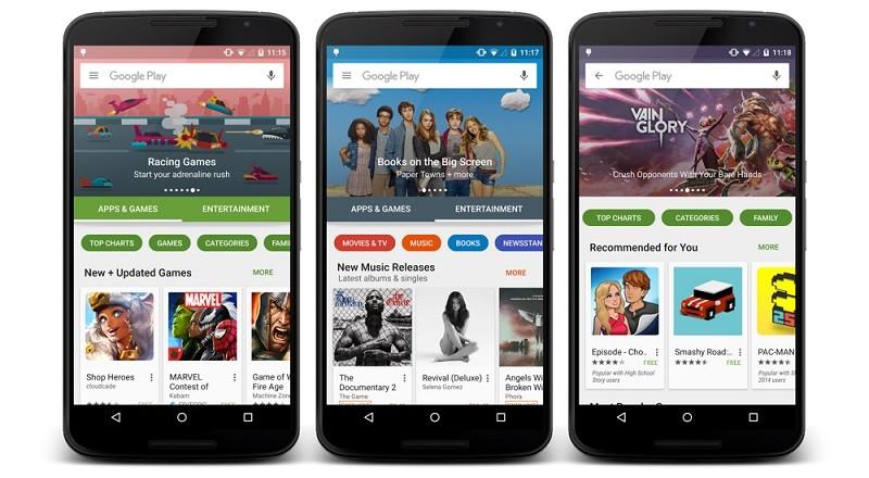Google renovará su tienda de apps Android con Play Store 6.0 - google-play-new-design1-800x440