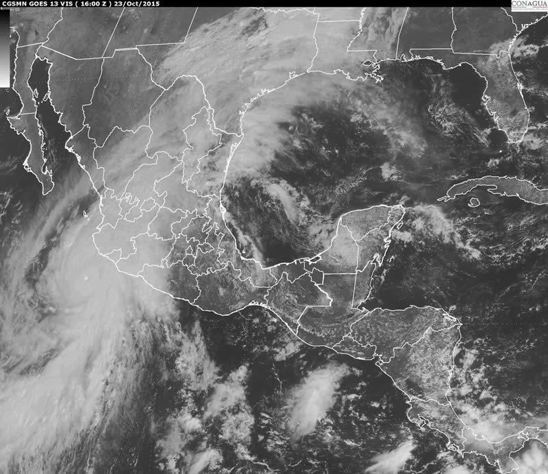 Huracán Patricia es el más poderoso registrado en el Hemisferio Occidental - huracan-patricia