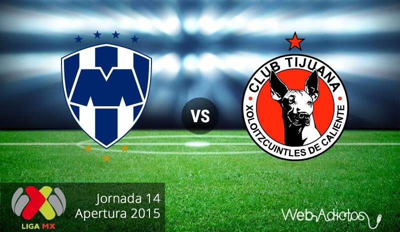 Monterrey vs Tijuana, Jornada 14 del Apertura 2015 - monterrey-vs-tijuana-apertura-2015