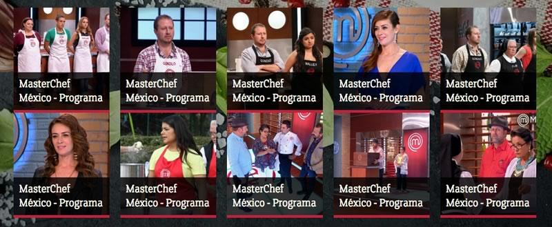 programas de masterchef mexico Ve los capítulos de MasterChef México previo al gran final