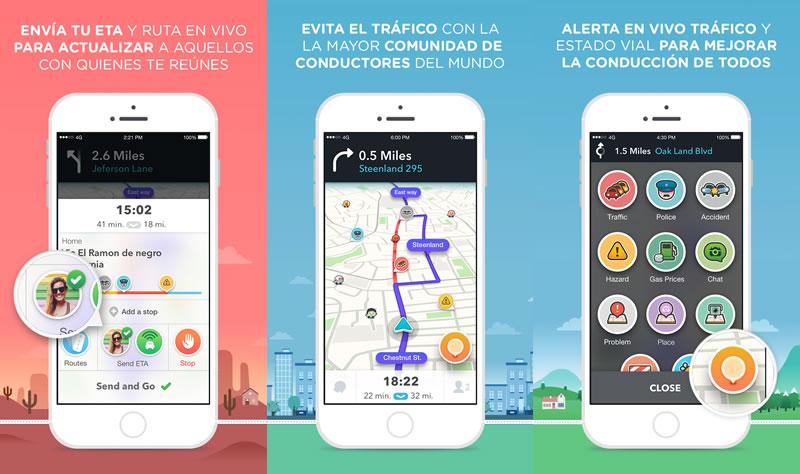 Waze lanza su versión 4.0 para iOS - waze-4-para-ios