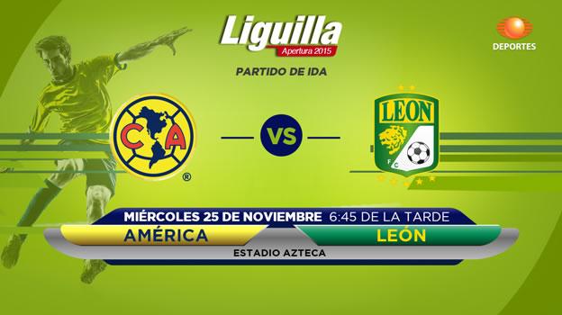 América vs León, Liguilla del Apertura 2015 | Partido de ida - america-vs-leon-en-vivo-liguilla-apertura-2015