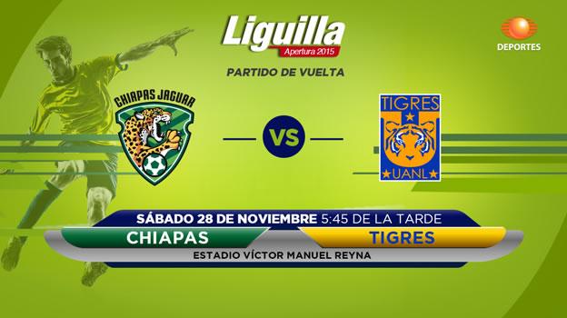 Jaguares vs Tigres, Liguilla del Apertura 2015 | Vuelta - jaguares-vs-tigres-en-vivo-televisa-liguilla-apertura-2015