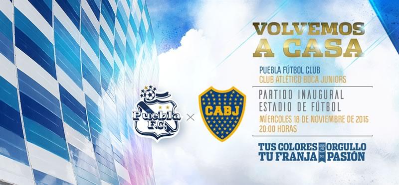 Puebla vs Boca Juniors en el nuevo Estadio Cuauhtémoc - puebla-vs-boca-amistoso-2015