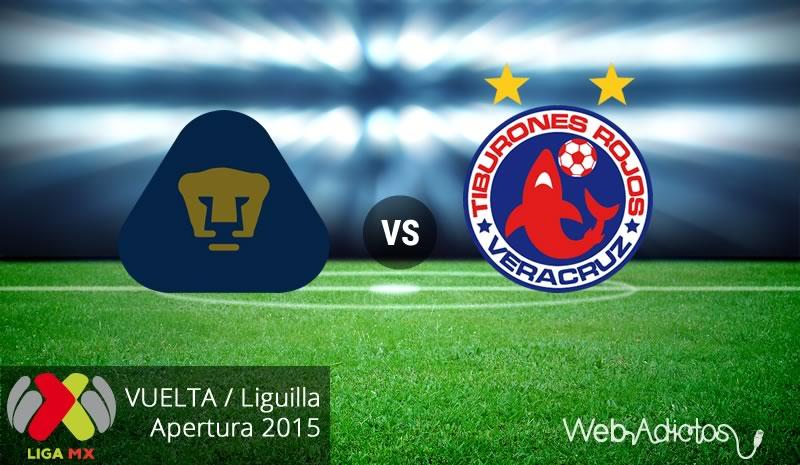 pumas vs veracruz vuelta liguilla apertura 2015 Pumas vs Veracruz, vuelta de la Liguilla del Apertura 2015