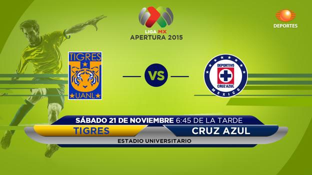 Tigres vs Cruz Azul, Jornada 17 del Apertura 2015 - tigres-vs-cruz-azul-en-vivo-apertura-2015