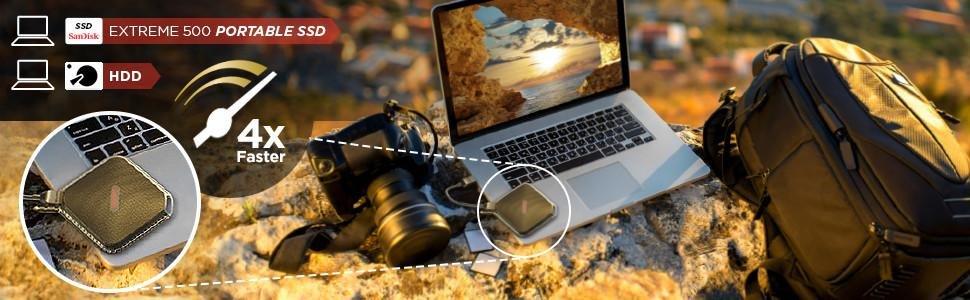 Gadgets SanDisk de gran capacidad para tus dispositivos móviles - ssd-portatil-sandisk-extreme-500