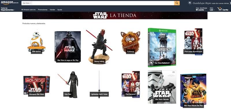 Amazon México lanza su tienda especial de Star Wars - tienda-de-star-wars-en-amazon