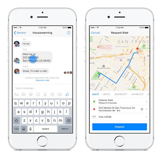 Ahora podrás pedir Uber desde Facebook Messenger - uber_fb