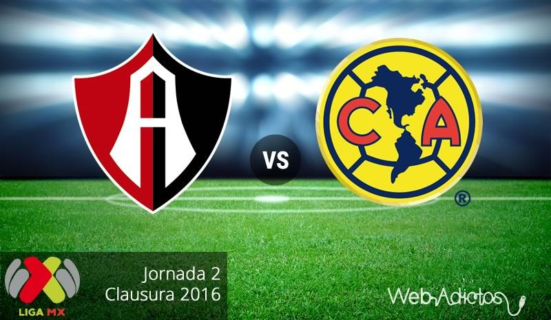 Atlas vs América, Torneo Clausura 2016 de la Liga MX   Jornada 2 - atlas-vs-america-clausura-2016