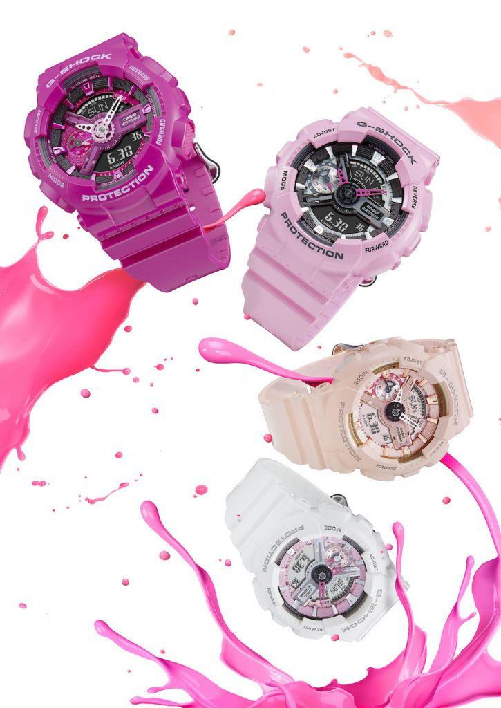 G-Shock presenta línea Pink collection - g-shock-relojes-para-mujer-s-series