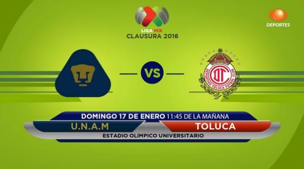 Pumas vs Toluca, Jornada 2 del Clausura 2016 - pumas-vs-toluca-en-vivo-clausura-2016