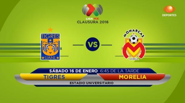Tigres vs Morelia, Fecha 2 del Clausura 2016 - tigres-vs-monarcas-morelia-clausura-2016-en-vivo