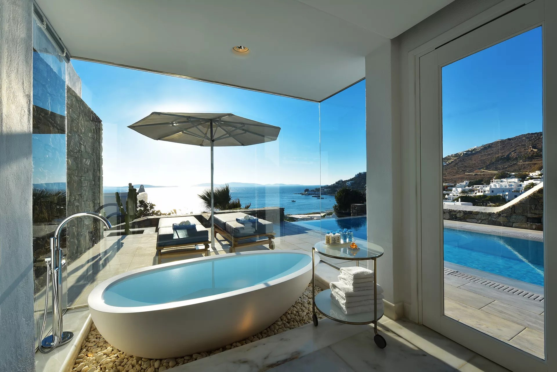 Grand Suite Sea View with Private Pool  Mykonos Grand