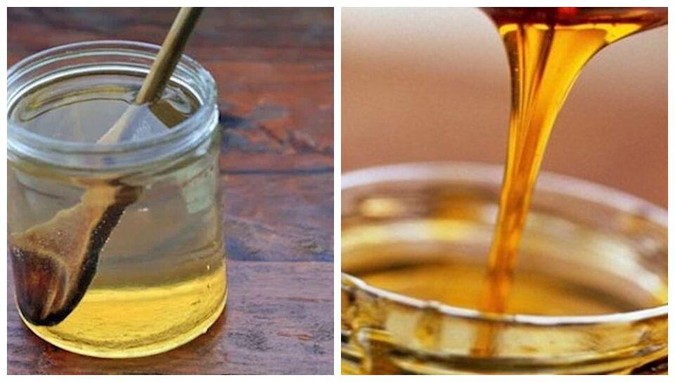 agua con miel