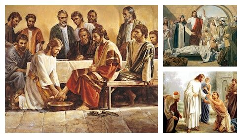 jesus lavando pies